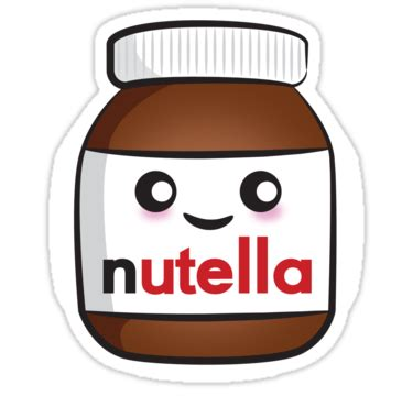imagenes kawaii de nutella quot nutella face 2 quot stickers by lauramazing redbubble