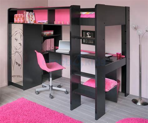 lit superpose avec bureau pour fille visuel 5