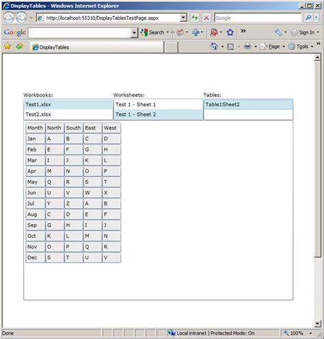Xml Spreadsheet Reference by Displaying Open Xml Spreadsheet Tables In The Browser Using Silverlight