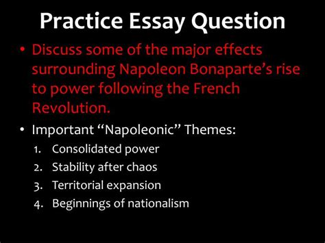 theme nationalism essay ppt the rise of napoleon powerpoint presentation id