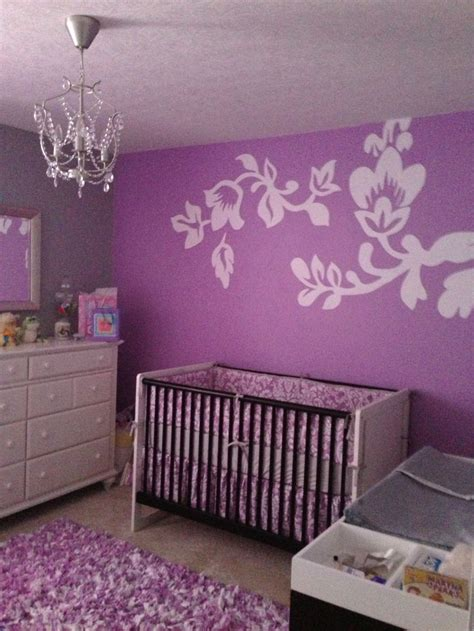 Purple Curtains For Nursery Purple And Grey Baby Room Just Finished For My Baby
