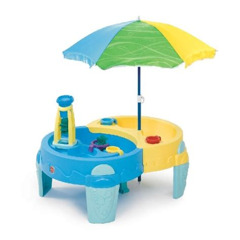 sand table with umbrella sand water toys colourful dual sand and water table