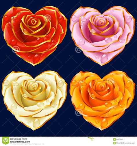 Pink Flower 4in1 isolated of yellow flowers stock photo cartoondealer 74495700