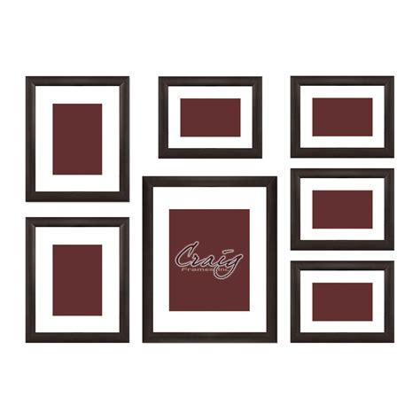 Cheap Frame Mats by Craig Frames Brown Picture Frame 7 Wall Set Brown
