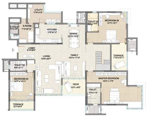 5 bhk duplex floor plan 4289 sq ft 5 bhk 5t apartment for sale in embassy pristine
