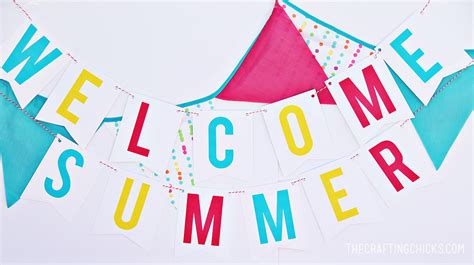 printable summer banner welcome summer banner the crafting chicks