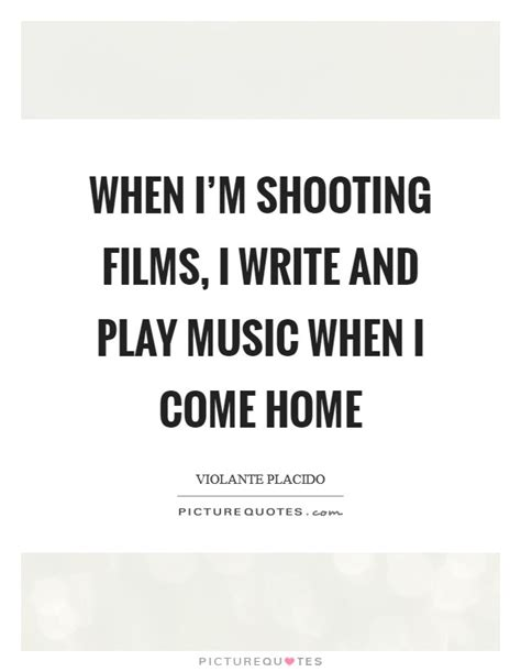 when i m shooting i write and play when i