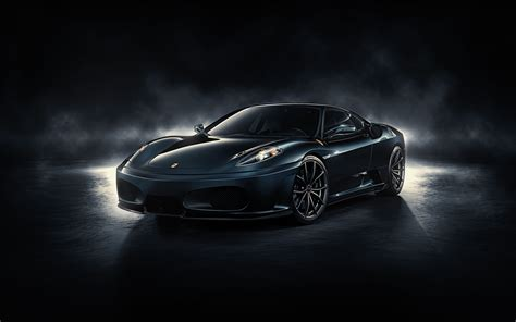 wallpaper black ferrari black ferrari f430 wallpaper image 306