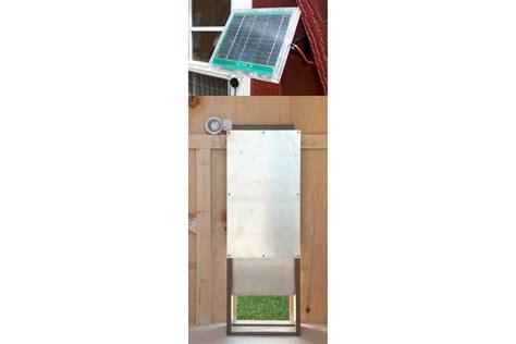 Solar Chicken Door by Chicken Coop Egg Door