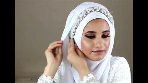 simple hijab tutorial for wedding simple bridal hijab tutorial youtube