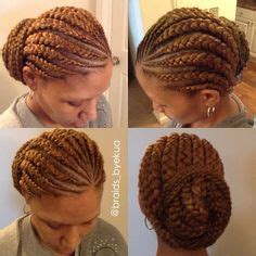 scalp braids in a high bun 1000 images about hair on pinterest havana twists box