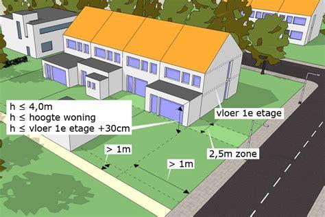 schuur achtertuin vergunning aanbouw bij nieuwbouw vergunningsvrij bouwen