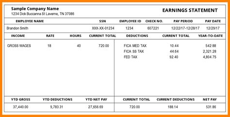 1099 pay stub template free 5 1099 pay stub template pay stub format