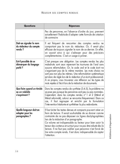 Modèle Compte Rendu De Réunion