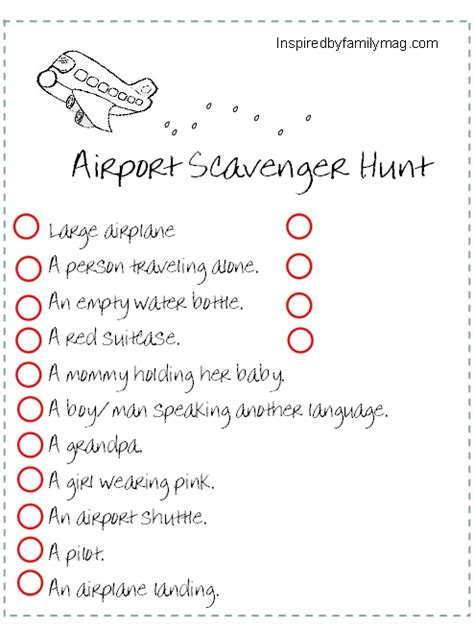 traveling with kids traveling scavenger hunt inspired