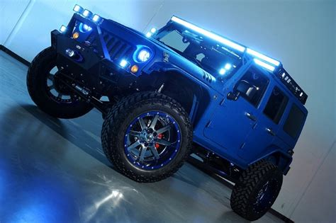 starwood jeep blue starwood custom kevlar jeep wrangler unlimited sema build