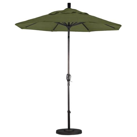 patio umbrella home depot california umbrella 7 1 2 ft fiberglass push tilt patio umbrella in terrace fern olefin