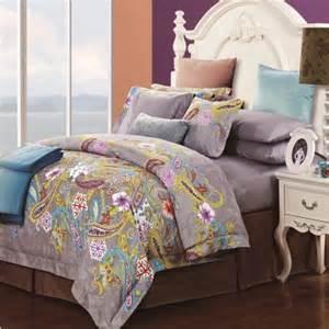 gray yellow and blue southwest paisley pop bohemian boho style shabby chic luxury 100