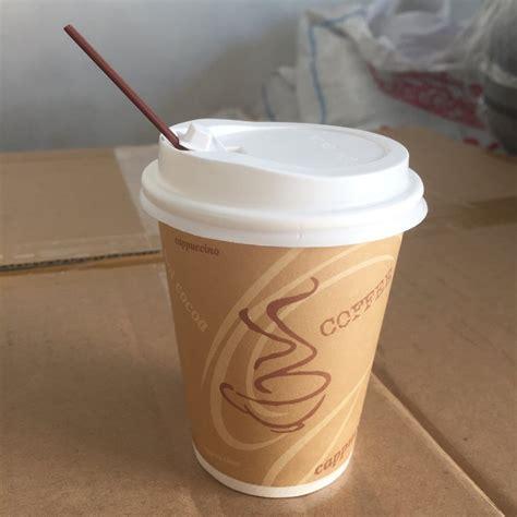 Paper Cup Kopi 8 Oz Cup Lid Hitam Stirer Termurah jual papercup gelas kertas kopi lid stirrer 8 oz di lapak cahyashop3 cahyashop3