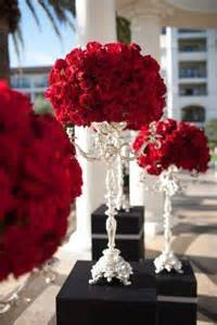 Red Flower Centerpieces - gowns beaches and resorts on pinterest