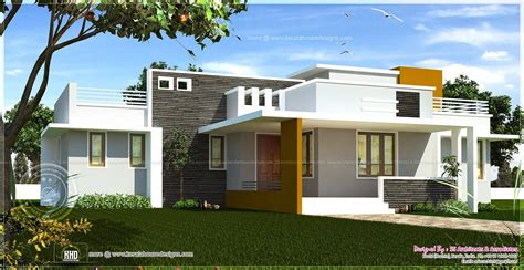 Walkout Bungalow Floor Plans single floor contemporary house design kerala home house