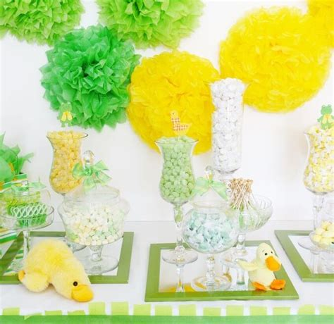 Yellow Green Baby Shower by Baby Shower Archives Candybar Couture