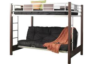 futon loft bed league cherry 4 pc futon loft bed bunk loft