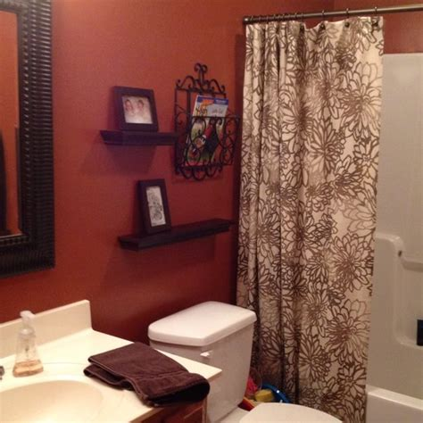 orange and brown bathroom accessories burnt orange bathroom i wanted to do this color with my