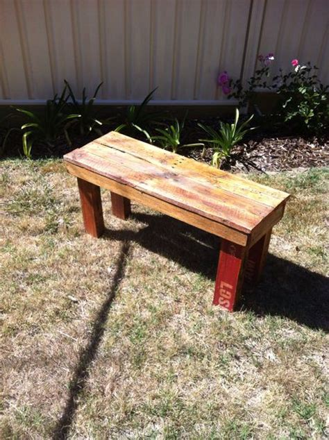 how to make a bench from pallets diy pallet bench