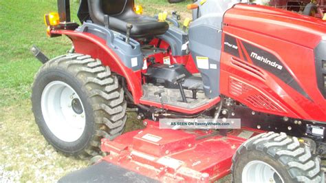 mahindra finish mower 2014 mahindra emax22 diesel 4x4 farm tractor 60 quot belly