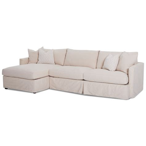 2 pc sectional sofa chaise klaussner leisure 2 pc sectional sofa with slipcover and