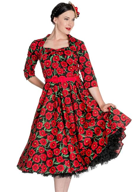style clothing hell bunny 1950s style poppy swing dress vintage