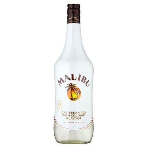 malibu rum malibu white rum with coconut 1l tesco groceries