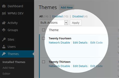 Theme Editor Wordpress Multisite   wordpress multisite theme manager plugin wpmu dev