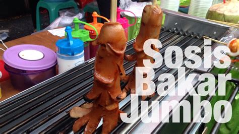 sosis bakar jumbo kuliner unik youtube