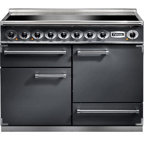electric induction range cookers 110cm buy falcon 1092 deluxe slate brushed chrome 110cm electric induction range cooker 102300