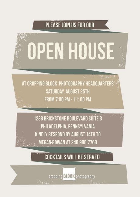 Free Open House Post Card Templates by Business Open House Invitation Template Templates