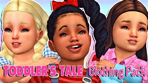 sims 4 toddler cc the sims 4 toddler s tale clothing pack full cc list