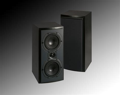 triad inroom bronze lcr bookshelf speakers clear