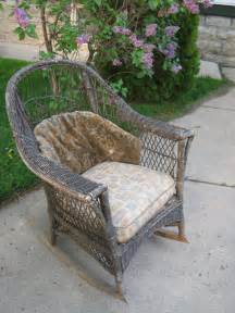 Patio Wicker Chair by Antique Wicker Rocker Rocking Chair Original Cushions
