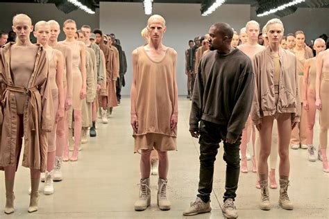Fashion Week Kayne 2 by Kanye West Yeezy Season 4 Show At Nyfw Models Collapse