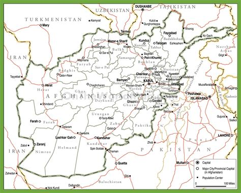 political map of afghanistan political map of afghanistan with provinces