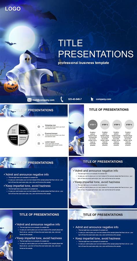 ghost themes for ppt flying ghost powerpoint templates imaginelayout com