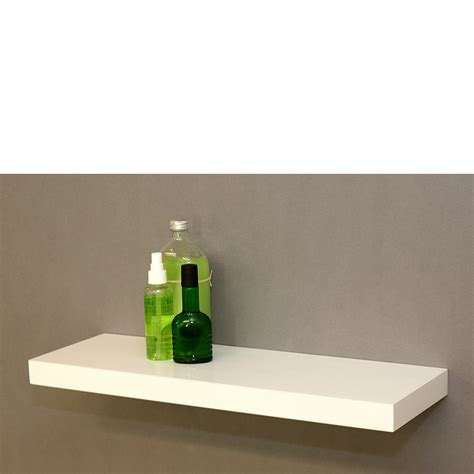 gloss white floating shelf 600x200x38mm mastershelf