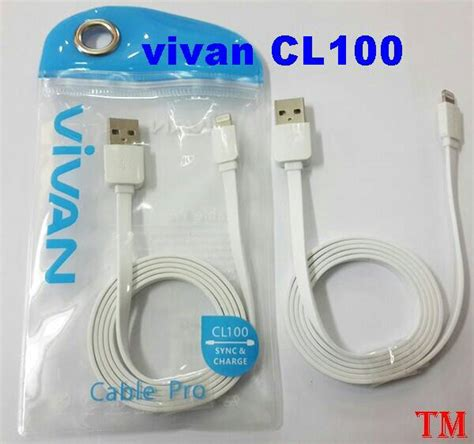 Vivan Kabel Cl 100 For Iphone5 Blue jual cable lightning charger kabel data iphone 5 5c 5s 6