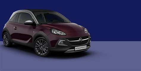 opel purple opel adam rocks stylish city crossover