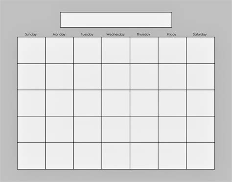 empty monthly calendar print out calendar template 2016