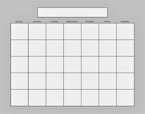 Empty Calendar Template Empty Monthly Calendar Print Out Calendar Template 2016