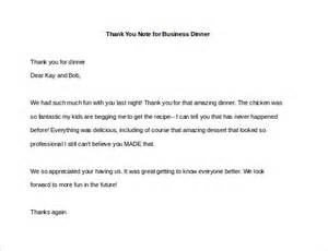 Thank You Letter New Business Partner thank you note for dinner free sample example format download