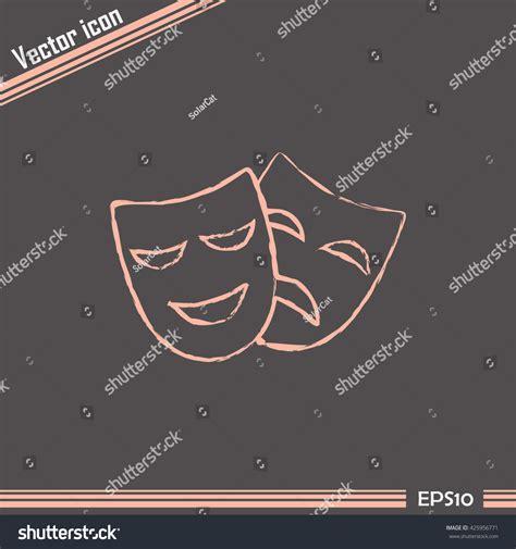 Masker Line mask symbol line icon stock vector 425956771